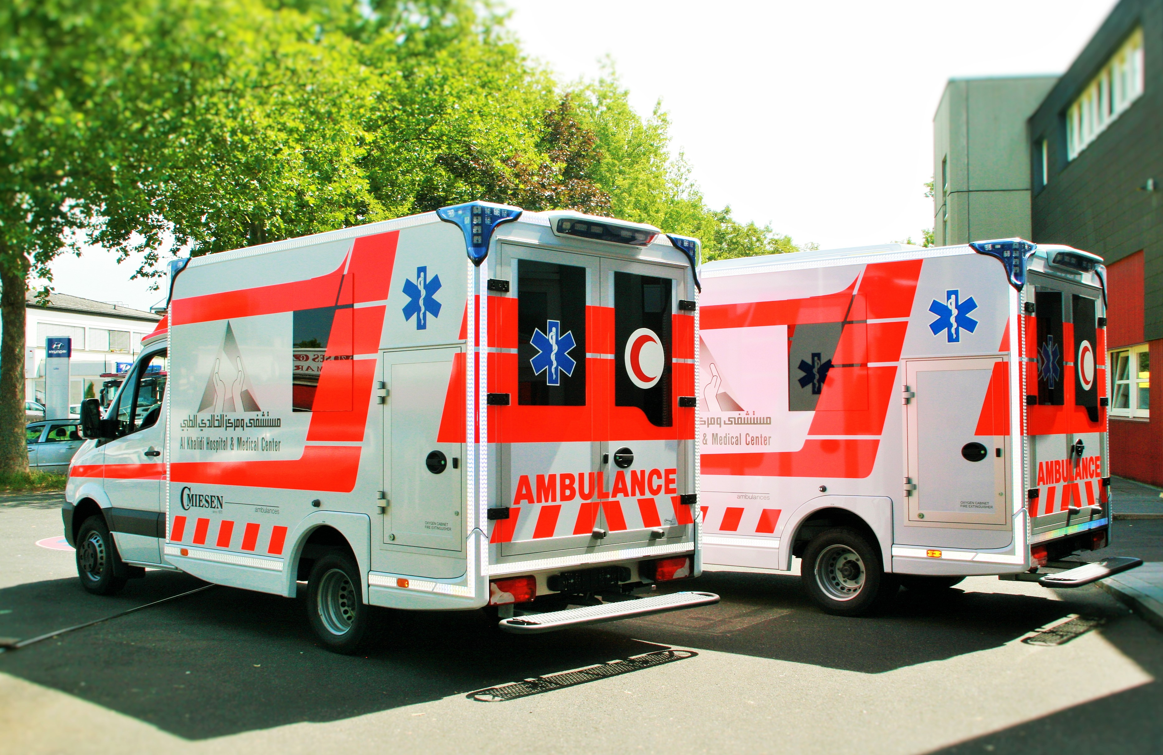 We wish the rescue forces of these ambulances the best of success in ...