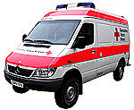 Multi-stretcher ambulance van