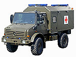 Unimog multi-stretcher ambulance